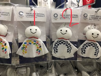 ?愛莉詩in東京? 日本2020東京奧運期間限定晴天娃娃吊飾各$600 高約18公分 款式有1~4號