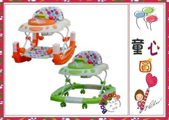 Babybabe 多功能兩用汽車嬰幼兒學步車~橘色/綠色◎童心玩具1館◎