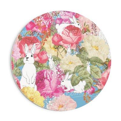 ♥ Killeez ♥ 客製化 化 彩色小矮人 貓咪 花園兔 碎花 可訂製 正方形 圓形 吸水杯墊 馬克杯 婚禮小物