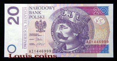 【Louis Coins】B464 POLAND 2012波蘭紙幣 20 Złotych