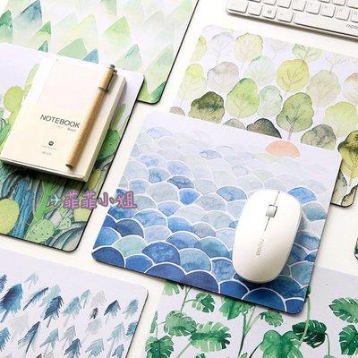 森林植物滑鼠墊 天然橡膠 植物園 原創手繪 加厚 電腦筆電 文藝 小清新 插畫 鼠標墊