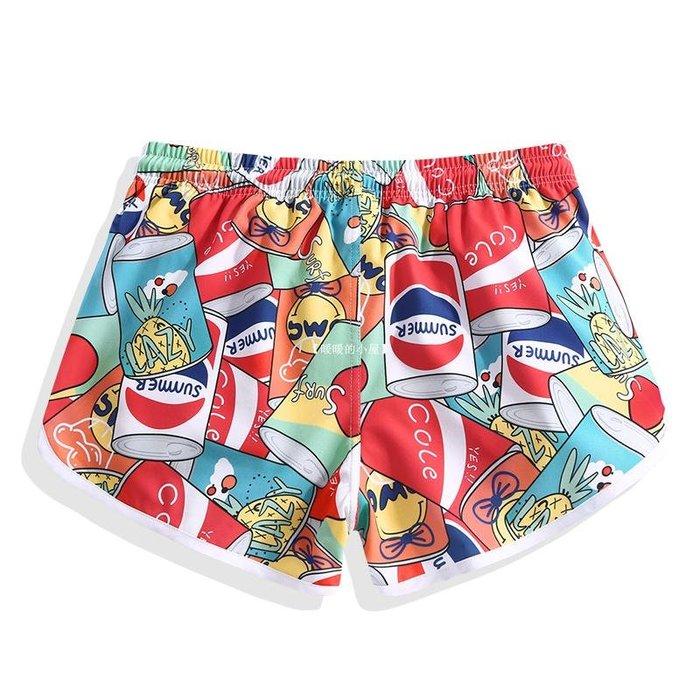 【暖暖的小屋】 速干沙灘褲女海邊度假寬松運動情侶可下水溫泉短褲百搭沖浪游泳褲