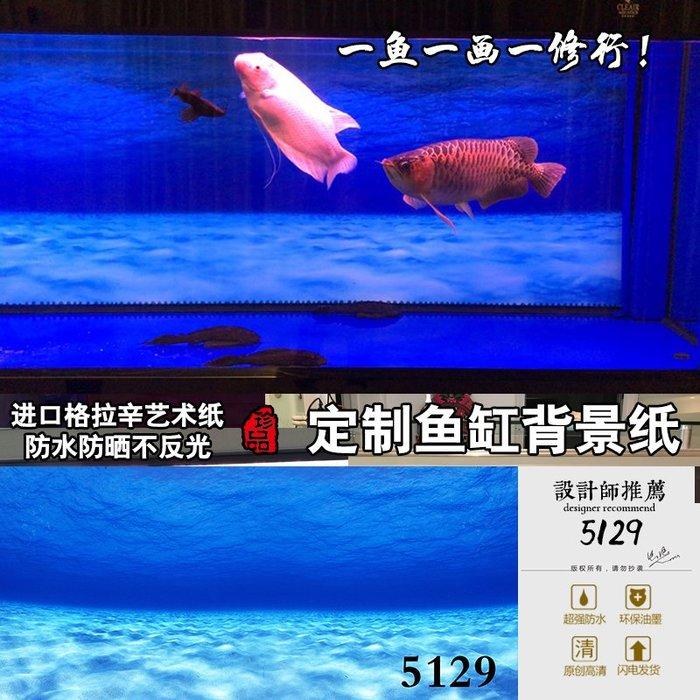 DREAM-魚缸背景紙畫高清圖3d立體水族箱貼紙龍魚缸壁紙裝飾造景海景5129