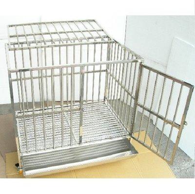 【優比寵物】3尺*2尺【#304級】(白鐵扁管站板型)白鐵不銹鋼/不鏽鋼管狗籠/寵物籠-(促銷優惠價)-(台灣製造)