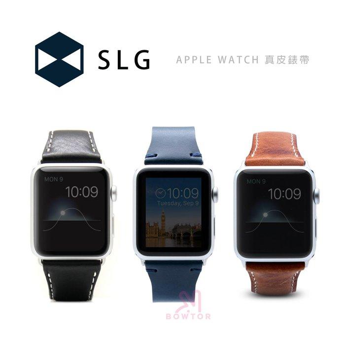 光華商場。包你個頭【SLG】 APPLE WATCH SERIES 3 42(44)mm 頂級 真皮 錶帶 藍色