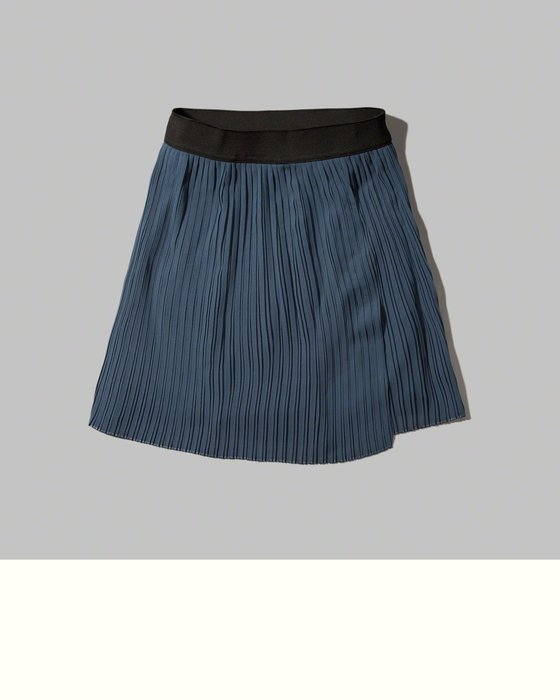 天普小棧】A&F Abercrombie Pleated Wrap Front Skater Skirt雪紡紗百摺短裙M