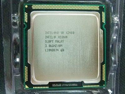 【含稅】Intel Xeon X3480 3.06G 1156 四核八線 正式庫存散片CPU一年保 強過 i7-880