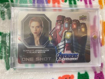2020 Marvel Avengers Scarlett Johansson Black Widow One Shot Metal SP Card #OS-8