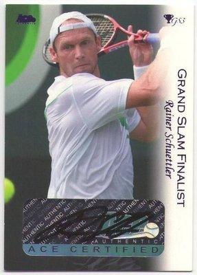 網球 2012 ACE Grand Slam 男單好手 Rainer Schuettler 少見簽名卡 ~~