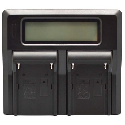 LCD雙槽高速充電器DV用-SONY F550/750/970