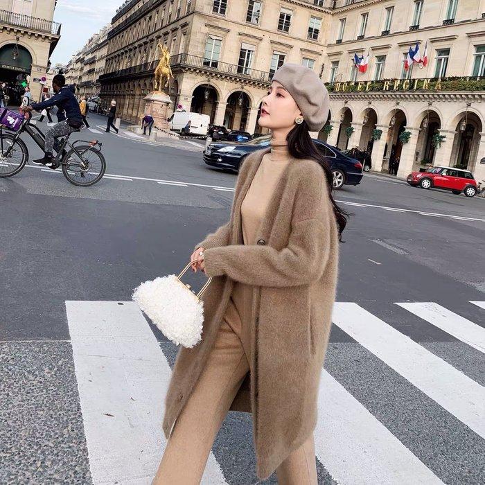 ❤JM SHOP韓風❤非一般的奢華體驗貉絨G品質毛衣厚外套