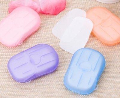 ~Tinny小鋪(烘焙/雜貨)~2盒入洗手紙小肥皂片創意外出旅遊兒童洗手便攜式香皂花香皂片