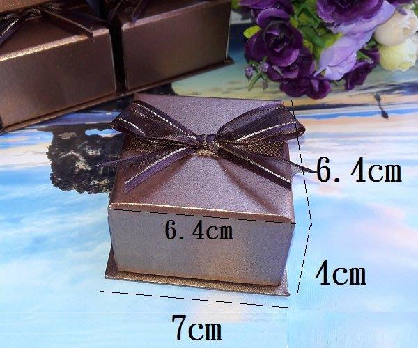 ☆創意小物店☆蝴蝶結浪漫 戒指盒 項鍊盒 耳環盒 禮品盒7*6.4*4cm/一個(不含內容物)
