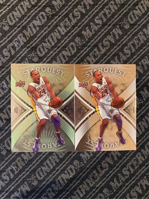 2008 UD First Edition & Common Starquest Green #SQ5 Kobe Bryant Lakers 兩張特卡