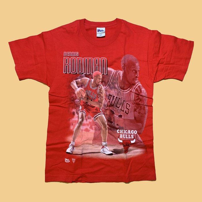 JCI:Vintage NBA 芝加哥 公牛隊 羅德曼 短T 90s / 嘻哈古著 / Rodman / Jordan