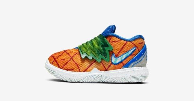 "GOSPEL【Nike Kyrie 5""Pineapple House""TD】鳳梨屋 海綿寶寶 小童CN4490-800"