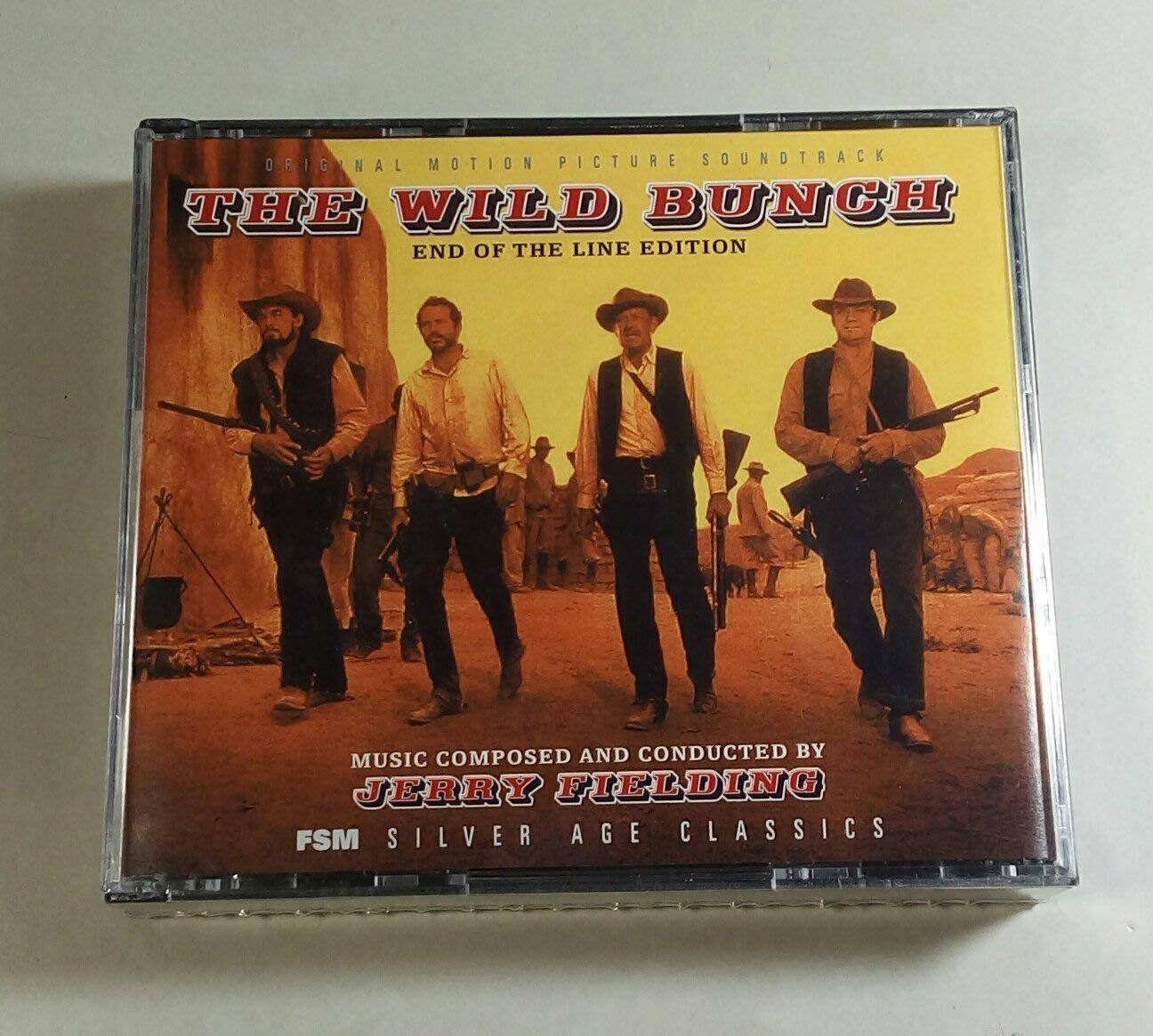 曰落黄沙 3CD完整版(The Wild Bunch)- Jerry Fielding,全新美版