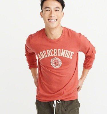 台北現貨 真品驗證 Abercrombie & Fitch AF A&F LOGO TEE 長袖 M 號 100% 全棉