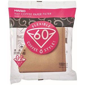 日本 HARIO V60咖啡濾紙 圓錐濾紙1~4杯用~100枚