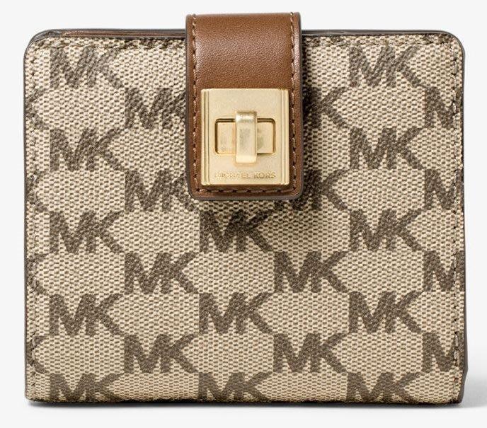 全新美國精品名牌 Michael Michael Kors MK 女用經典款短夾,低價起標無底價!本商品免運費!