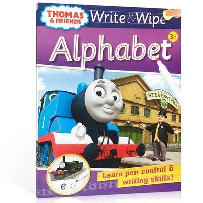 可擦寫:托馬斯和朋友們系列Thomas Wipe & Write Alphabet 字母書 低幼兒童啟蒙益智 學前教育書