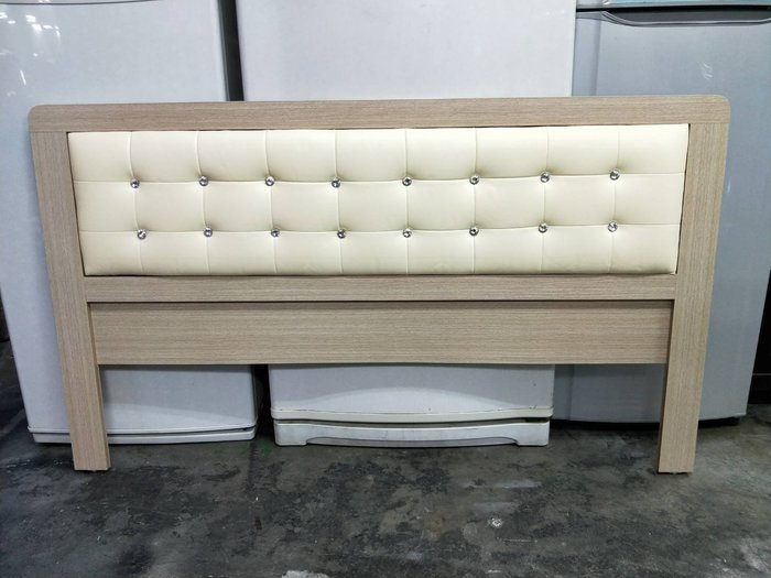 非凡二手家具 全新 晶鑽白橡木 5尺皮墊床頭片*床頭櫃*標準雙人床頭