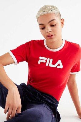 代購 FILA Tionne Cropped Tee 紅色 短版上衣