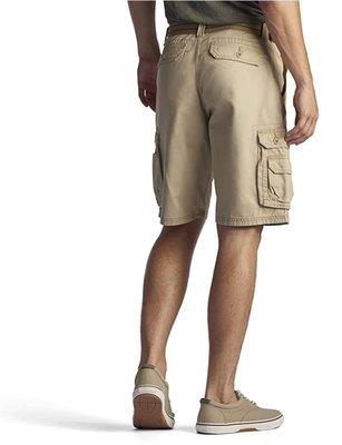 【美國Levis專賣】送鐵環腰帶LEE Dungarees Cargo 重磅 卡其色立體口袋短褲29-42腰優惠501