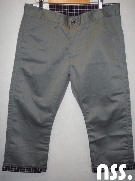 特價「NSS』BIG SMITH 灰色 七分褲 反摺 格紋 M L號 日本製