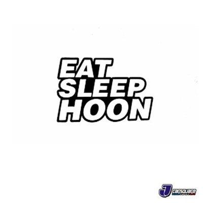 EAT SLEEP HOON 創意貼紙 玻璃側貼