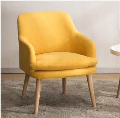 北歐單人沙發懶人小戶型簡約現代陽臺臥室客廳迷妳休閑布藝沙發椅
