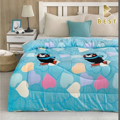 【現貨】超激厚法蘭絨暖暖被 滑冰熊 台灣製 150x200cm 毯被 毯子 毛毯  BEST寢飾