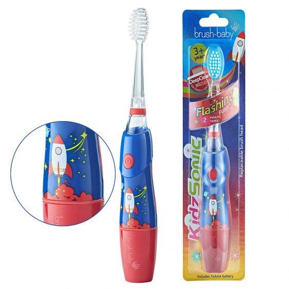 免運【英國brush-baby】幼童聲波電動牙刷(3歲+/太空探險)