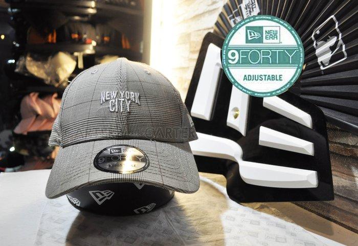 New Era Branded British Grids NYC 9Forty 英倫紳士NYC大地色格紋940彎帽