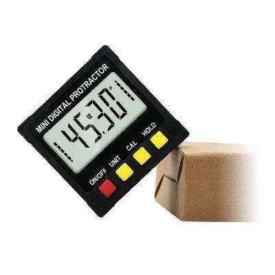 黑色迷妳電子數顯傾角儀 坡度水平儀量角器 磁性角度尺傾角盒 宜蘭縣