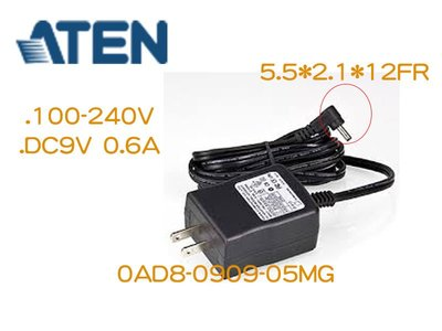 ATEN KVM延長器/訊號轉換器 電源變壓器 DC9V 0.6A FH300/600,VS291/491等專用