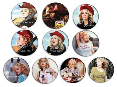 現貨 MADONNA Music , Don't Tell Me pinback BADGE SET 1b 襟章 徽章 (一套10個)