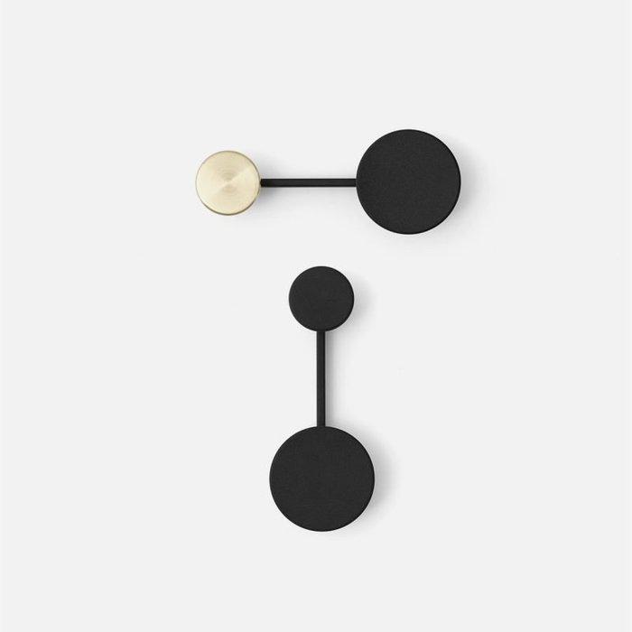ABOUT。R  北歐丹麥設計師合金圓形黑色金色壁掛鉤子精致簡約衣帽包包臥室牆面時尚造型掛鉤壁掛鐵藝收納必掛勾藝術裝飾品