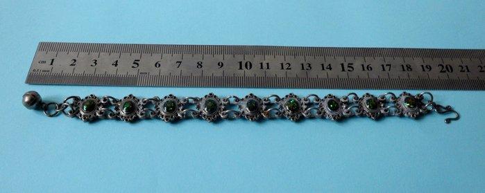 紫色小館9------銀飾寶石手鍊