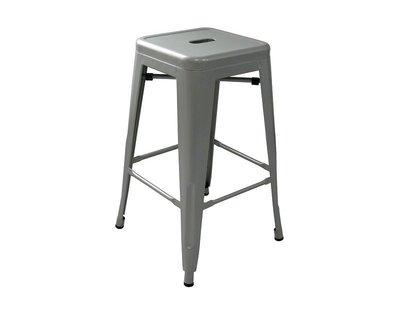 !新生活家具!《奧莉薇》銀色 工業風 loft 亮面 中吧檯椅 鐵椅 餐椅 高凳 tolix 復古 鐵皮 美式 六色