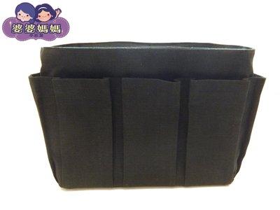 【露西小舖】╭*手作限量(素面黑色,大)❤日雜熱銷款❤袋中袋包中包收納袋收納包多功能袋多功能包整理袋整理包手拿包分類包