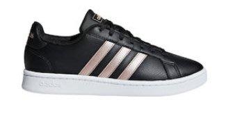 【鞋印良品】ADIDAS 愛迪達 GRAND COURT F36486 黑/金 皮革 縫線 記憶鞋墊 三線 滑板 休閒鞋
