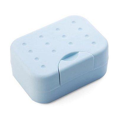 ☜shop go☞【P402】旅行便攜帶鎖扣肥皂盒 有蓋 防水 皂架 帶吸水海綿墊 洗臉 香皂盒