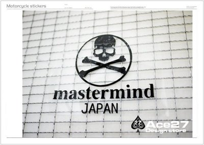 [ACE27 艾斯設計專賣店] mastermind japan paryia單車防水彩貼 單速車 GRIME 貼紙 機車