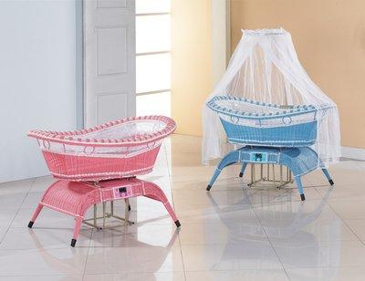 *SA085-3* 粉紅/粉藍(電動)嬰兒搖籃(不含床墊)/大台北地區/系統家具/沙發/床墊/茶几/高低櫃/1元起