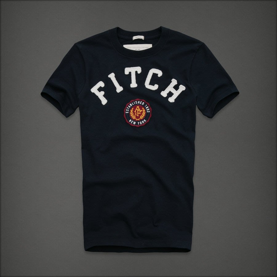 ?? Abercrombie & Fitch Boundary Peak 男 圓領刺繡貼布 短袖T恤 (L) by A&F