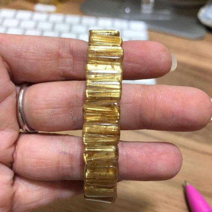 天然 鈦晶手排 鈦金手排 透料 精緻切工 順絲 8分滿絲 11mm 26g 有影片