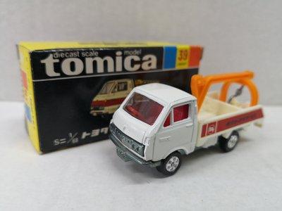 E Tomy Tomica 黑箱 39 -1-5 1E轆 TOYOTA WRECKER ( 日本制)