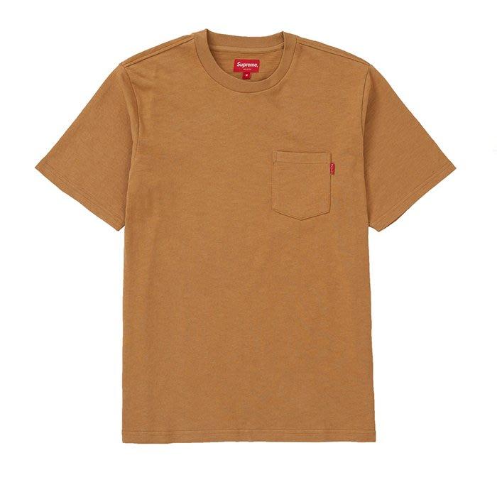 【QUEST】現貨SUPREME SS20 POCKET TEE 短袖 口袋T 棕