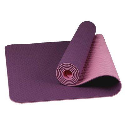 現貨/tpe瑜伽墊初學者雙面防滑加厚8mm加長瑜珈墊健身墊瑜伽墊子無異味    igo/海淘吧F56LO 促銷價